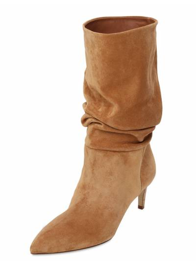 60mm Slouchy Suede Boots Paris Texas 73ICCL001-VEVSUkE1 - 2