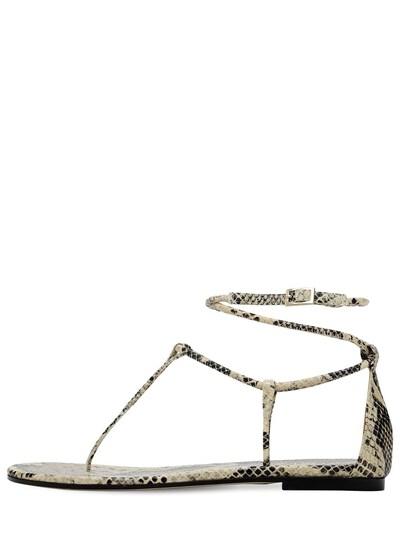 Кожаные Босоножки С Принтом 10мм Paris Texas 73ICCL007-REVTRVJU0 - 1