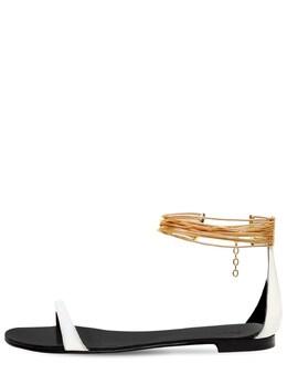Босоножки Из Лакированной Кожи 10mm Giuseppe Zanotti Design 73IA5O009-MDAx0