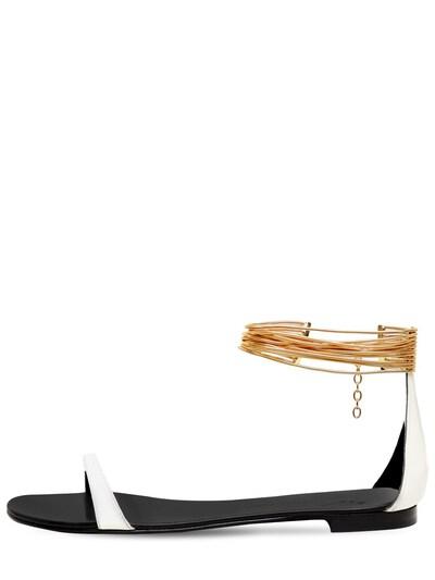 Босоножки Из Лакированной Кожи 10mm Giuseppe Zanotti Design 73IA5O009-MDAx0 - 1