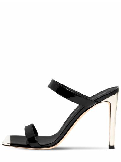 Туфли-мюли Из Лакированной Кожи 105mm Giuseppe Zanotti Design 73IA5O008-MDEw0 - 1