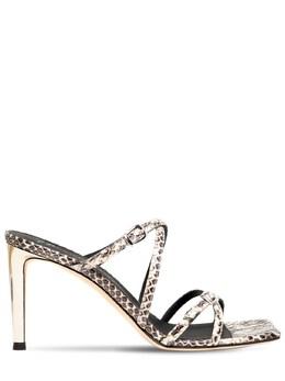 Кожаные Туфли-мюли С Питоновым Принтом 85мм Giuseppe Zanotti Design 73IA5O007-MDAx0