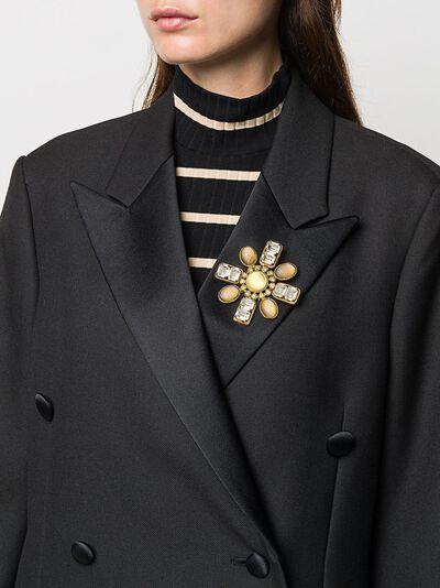 Chanel Pre-Owned декорированная брошь CHANELBROCHCROSS - 2