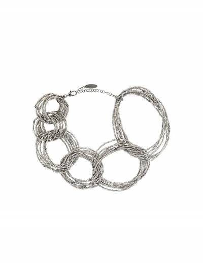 Brunello Cucinelli bead-detail chain-link necklace MCOW9LV34 - 1