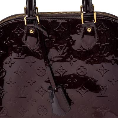 Louis Vuitton Amarante Monogram Vernis Leather Alma PM Bag 360016 - 4