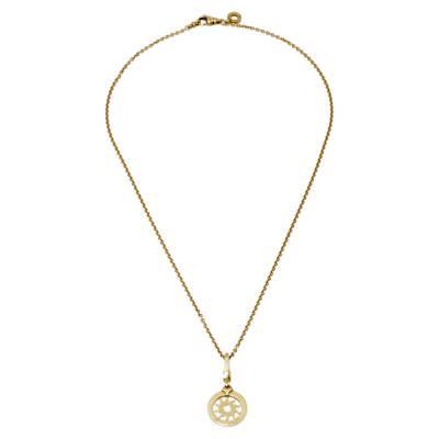 Bvlgari Tondo Sun 18K Yellow Gold Pendant Necklace 359809 - 1