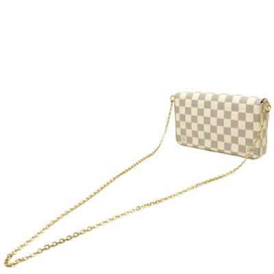 Louis Vuitton Blue/White Damier Azur Pochette Felicie Clutch Bag 357777 - 1
