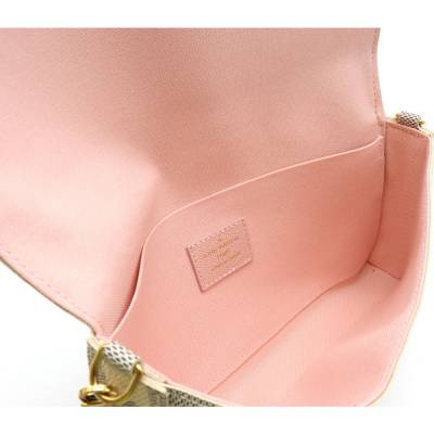 Louis Vuitton Blue/White Damier Azur Pochette Felicie Clutch Bag 357777 - 3