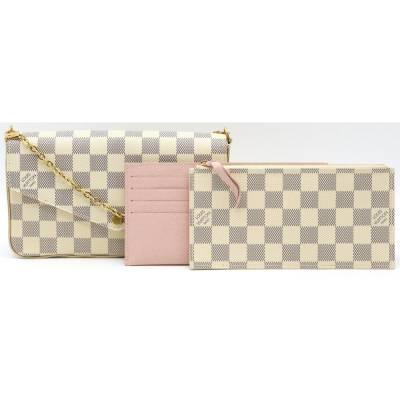 Louis Vuitton Blue/White Damier Azur Pochette Felicie Clutch Bag 357777 - 4