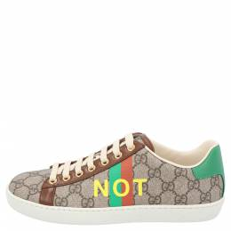 Gucci Beige/Brown GG Canvas Fake/Not Print Ace Sneaker Size EU 36.5 359580
