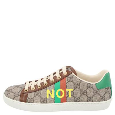 Gucci Beige/Brown GG Canvas Fake/Not Print Ace Sneaker Size EU 36.5 359580 - 1