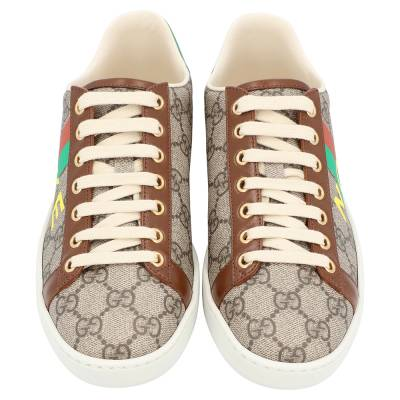 Gucci Beige/Brown GG Canvas Fake/Not Print Ace Sneaker Size EU 36.5 359580 - 2