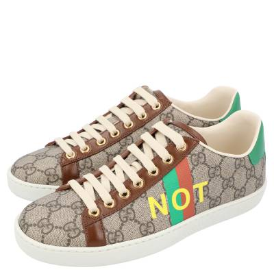 Gucci Beige/Brown GG Canvas Fake/Not Print Ace Sneaker Size EU 36.5 359580 - 3