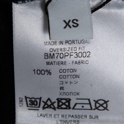 Givenchy Black Cotton Eagle Print Crew Neck T-Shirt XS 359696 - 5