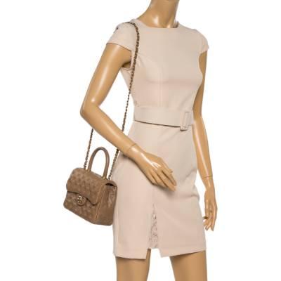 Chanel Beige Leather Paris-Rome Coco Top Handle Bag 359760 - 1
