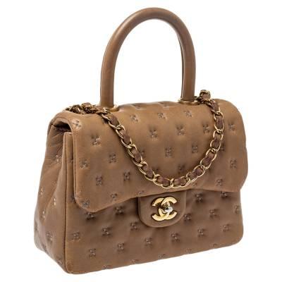 Chanel Beige Leather Paris-Rome Coco Top Handle Bag 359760 - 2