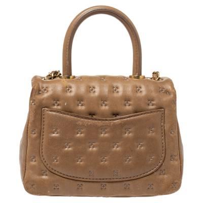 Chanel Beige Leather Paris-Rome Coco Top Handle Bag 359760 - 3