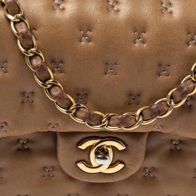 Chanel Beige Leather Paris-Rome Coco Top Handle Bag 359760 - 4
