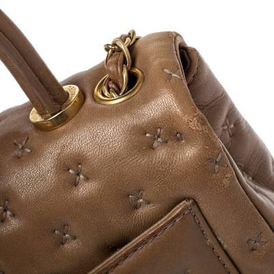 Chanel Beige Leather Paris-Rome Coco Top Handle Bag 359760 - 5
