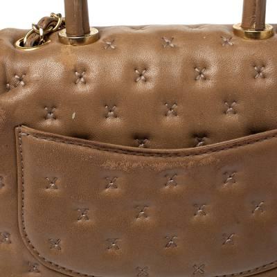 Chanel Beige Leather Paris-Rome Coco Top Handle Bag 359760 - 6