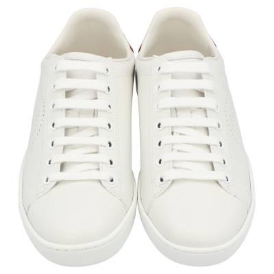 Gucci White Ace Interlocking G Sneakers Size EU 39 359566 - 2