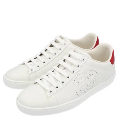 Gucci White Ace Interlocking G Sneakers Size EU 39 359566 - 3