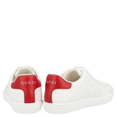 Gucci White Ace Interlocking G Sneakers Size EU 39 359566 - 4