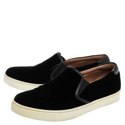 Gianvito Rossi Black Velvet And Leather Trim Slip on Sneakers Size 37.5 357827 - 3