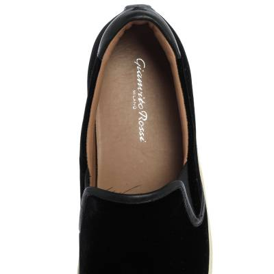 Gianvito Rossi Black Velvet And Leather Trim Slip on Sneakers Size 37.5 357827 - 6