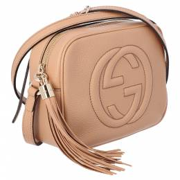 Gucci Brown Leather Soho Small Disco Bag 359592