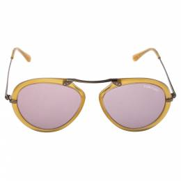 Tom Ford Light Brown/Purple TF473 Aaron Aviator Sunglasses 357417