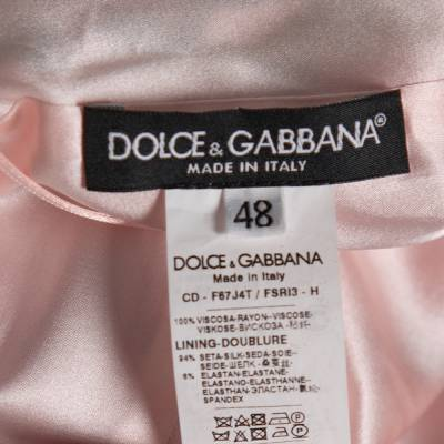 Dolce&Gabbana Pink Floral Printed Crepe Sheath Dress L 360029 - 4