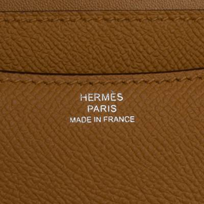 Hermes Natural Sable Evercolor Leather Mini Enamel Lacquer Hardware Constance Bag with Twilly 360119 - 10