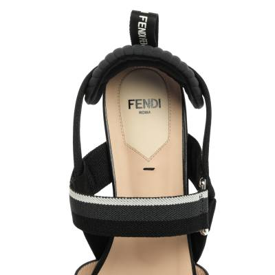 Fendi Black PVC And Leather Trim Colibrì Pointed Toe Flats Sandals Size 38.5 358436 - 6