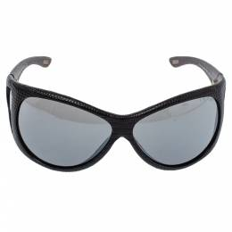 Tom Ford Black Natasha Textured Leather Shield Sunglasses 357025
