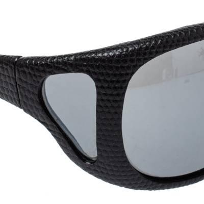 Tom Ford Black Natasha Textured Leather Shield Sunglasses 357025 - 3