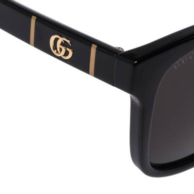 Gucci Black GG0637SK Square Frame Oversized Sunglasses 357027 - 3