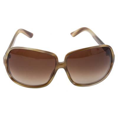 Yves Saint Laurent Beige/Brown Gradient YSL 6134/S Oversized Sunglasses 357020 - 1