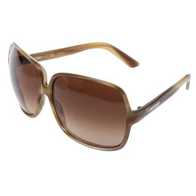 Yves Saint Laurent Beige/Brown Gradient YSL 6134/S Oversized Sunglasses 357020 - 2