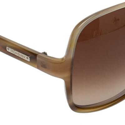 Yves Saint Laurent Beige/Brown Gradient YSL 6134/S Oversized Sunglasses 357020 - 3
