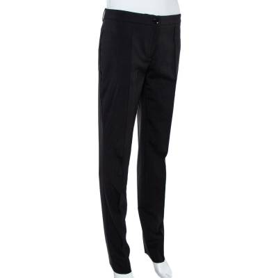 Burberry London Black Wool Blend Tailored Trousers S 359973 - 1