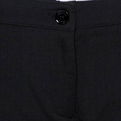 Burberry London Black Wool Blend Tailored Trousers S 359973 - 3