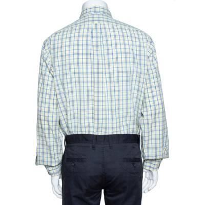 Ralph Lauren Pale Yellow Checked Cotton Button Down Shirt 3XL 358337 - 2
