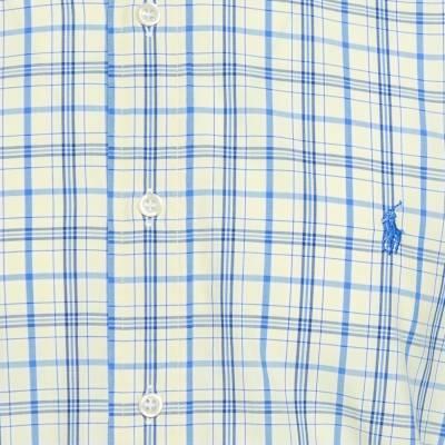 Ralph Lauren Pale Yellow Checked Cotton Button Down Shirt 3XL 358337 - 3