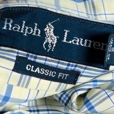 Ralph Lauren Pale Yellow Checked Cotton Button Down Shirt 3XL 358337 - 4