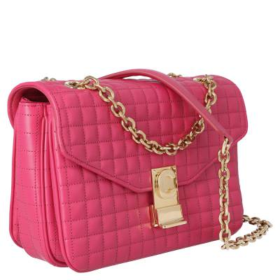 Celine Pink Medium Quilted Calfskin Leather C Bag 359557 - 1