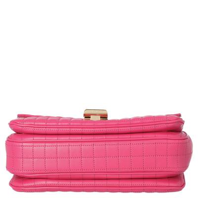 Celine Pink Medium Quilted Calfskin Leather C Bag 359557 - 4