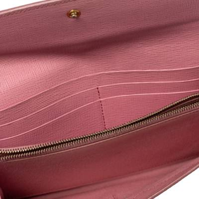 Fendi Pink Ombre Zucca Coated Canvas Continental Wallet 360359 - 1