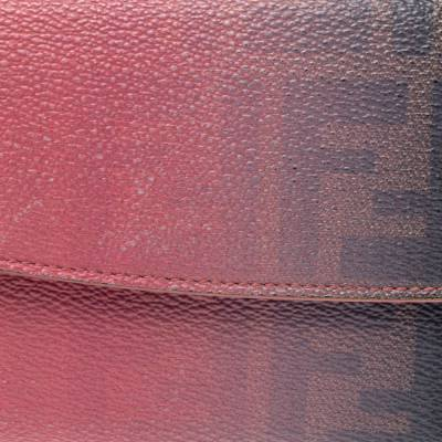 Fendi Pink Ombre Zucca Coated Canvas Continental Wallet 360359 - 4