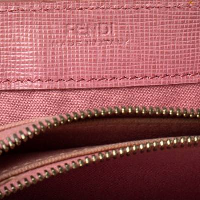 Fendi Pink Ombre Zucca Coated Canvas Continental Wallet 360359 - 6